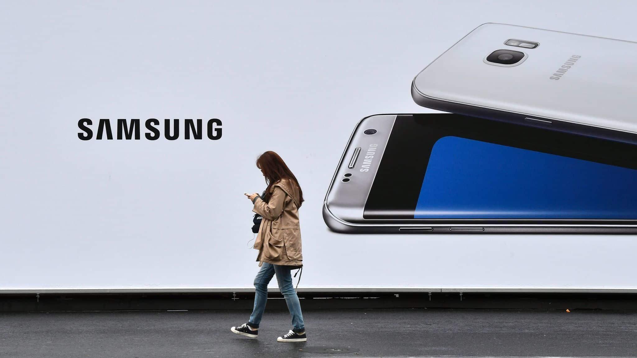 Une cliente de Samsung