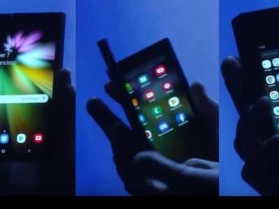 Annonce du nouveau téléphone pliable de Samsung